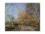 At the Edge of the Forest in Fontainebleau, 1885 Giclee Print by Alfred Sisley