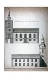 Two 17th Century London Churches, C1750 Giclee Print by Benjamin Cole
