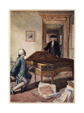 Mozart and the Mysterious Stranger, 1791 Giclee Print by Charles A Buchel