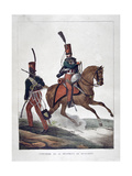 Uniforms of the 6th Regiment of French Hussars, 1823 Giclee Print by Charles Etienne Pierre Motte
