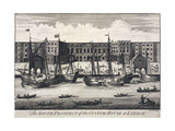 Custom House, London, C1750 Giclee Print by Benjamin Cole