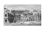 South and West Sides of the Forum, Rome Giclee Print by C Hulsen