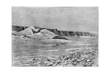 Cliffs of the Igharghar, Taken from the North of Temassinin, C1890 Giclee Print by Armand Kohl