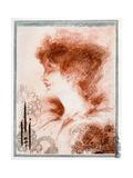 Portrait of a Woman, 1898 Giclee Print by Aubrey Beardsley