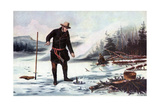 Trout Fishing on Chateaugay Lake, American Winter Sports, 1856 Giclee Print by Arthur Fitzwilliam Tait