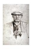 Old Man in a Flat Cap, 1916 Giclee Print by Anna Lea Merritt