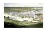View of Nizhny Novgorod, 1878 Giclee Print by Aleksey Bogolyubov