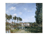Moret, on the Banks of the Loing, 1892 Giclee Print by Alfred Sisley