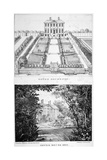 Two Views of Gough House, West Road, Chelsea, London, C1830 Giclee Print by Charles Joseph Hullmandel