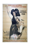 Comptoir National D'Escompte De Paris, French World War I Poster, 1918 Giclee Print by Auguste Leroux