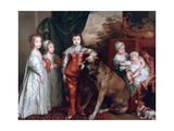 The Five Eldest Children of Charles I,1637 Giclée-Druck von Sir Anthony Van Dyck