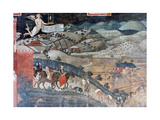 The Effects of Good Government in the Countryside, (Detail), 1338-1340 Giclee Print by Ambrogio Lorenzetti