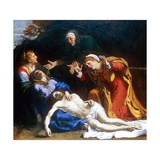 The Three Maries (The Dead Christ Mourned), C1604 Giclée-tryk af Annibale Carracci