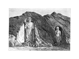 Colossal Idols, Upper Bamlan Valley, Afghanistan, 1895 Giclee Print by Charles Barbant