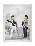 Uniform of Military Sapper-Firemen, France, 1823 Giclee Print by Charles Etienne Pierre Motte