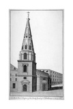 North West View of St Antholin. City of London, C1750 Giclee Print by Benjamin Cole