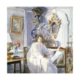 Young Woman in White, C1864-1930 Giclee Print by Anna Lea Merritt