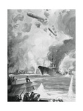 Cuxhaven Raid, 25 December 1914 Giclee Print by Charles Fouqueray