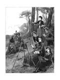 A Ladies' Sketching Club, 1885 Gicleetryck av Hopkins, Arthur