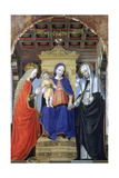 The Virgin and Child with Saint Catherine of Alexandria and Saint Catherine of Siena, C1490 Giclee Print by Ambrogio Bergognone