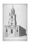 North-East View of the Church of St Botolph Without Bishopsgate, City of London, 1750 Giclee Print by Benjamin Cole