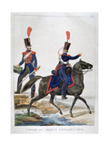 Uniform of a Regiment of Horse Artillery, France, 1823 Giclee Print by Charles Etienne Pierre Motte