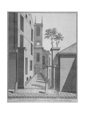 West Prospect of the Church of St Olave Jewry from Ironmonger Lane, City of London, 1750 Giclee Print by Benjamin Cole
