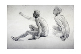 Two Studies of a Seated Male Nude, C1864-1930 Giclee Print by Anna Lea Merritt