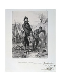 Soldiers of the Garde Nationale, Siege of Paris, 1870-1871 Giclee Print by Auguste Bry