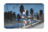 Moon at Numazu, from 53 Stations of Tokaido, 1832 Giclee Print by Ando Hiroshige