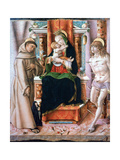 The Virgin and Child with Saints Francis and Sebastian, 1491 Giclee Print by Carlo Crivelli