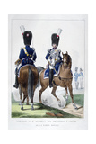 Uniform of the 2nd Regiment of Horse Grenadiers, France, 1823 Giclee Print by Charles Etienne Pierre Motte