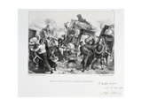 Residents of the Suburbs Arriving in Paris before the Prussians Besiege the City, 1870 Giclee Print by Auguste Bry