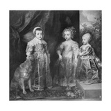 The Three Sons of Charles I, King of England, 1630S Giclee Print by Sir Anthony Van Dyck