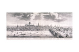 Panoramic View of London, 1710 Giclee Print by Benjamin Smith