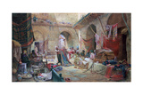 Carpet Bazaar, Cairo, 1887 Giclee Print by Charles Robertson