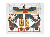 Mural from the Tombs of the Kings at Thebes, 1820 Giclee Print by Charles Joseph Hullmandel