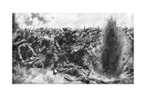A Massive German Attack on the British Front, World War I, 1914 Giclee Print by Arthur C Michael