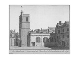 South-West View of the Church of St Bartholomew-The-Less, City of London, 1750 Giclee Print by Benjamin Cole
