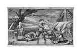 The Humorous Diversion of Sliding on the Ice, C1745 Giclee Print by Benjamin Cole