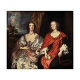 Portrait of Anne Dalkeith, and Anne Kirke, 1630S Giclee Print by Anthony Van Dyck