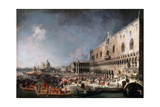 Arrival of the French Ambassador in Venice, 1725-1726 Giclee Print by  Canaletto