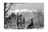The Banderpunch Mountains, India, 1895 Giclee Print by Charles Barbant