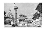 Temples at Patan, Nepal, 1895 Giclee Print by Armand Kohl