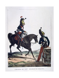 Uniform of the 12th Regiment of Dragoons, France, 1823 Giclee Print by Charles Etienne Pierre Motte