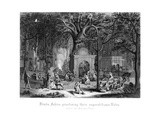 Hindu Fakirs Practising their Superstitious Rites under the Banyan Tree Giclee Print by  Bell