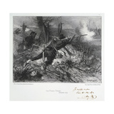 Les Francs-Tireurs, Siege of Paris, Franco-Prussian War, December 1870 Giclee Print by Auguste Bry