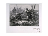 French Soldiers, Siege of Paris, 1871 Giclee Print by Auguste Bry
