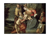 The Holy Family with Saints Catherine, Anne and John the Baptist, C1580-C1582 Giclee Print by Benedetto Caliari