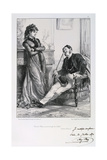 Pauvre Nini, Tu as Mange Du Chien!, Siege of Paris, 1871 Giclee Print by Auguste Bry